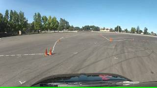 Fiat Abarth SCCA Autocross San Joaquin County Fairgrounds in Stockton, CA 6-30-13 Run 3