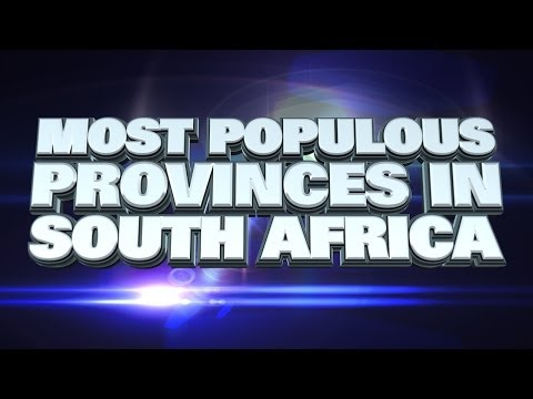 Most Populous Provinces in South Africa 2014
