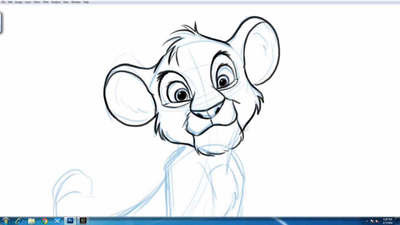 Uncategorized How To Draw The Lion King how to draw simba from disneys the lion king youtube king