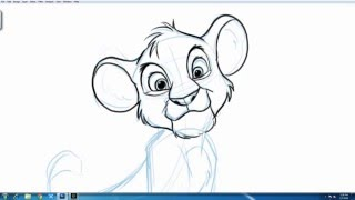 How to Draw SIMBA from Disney