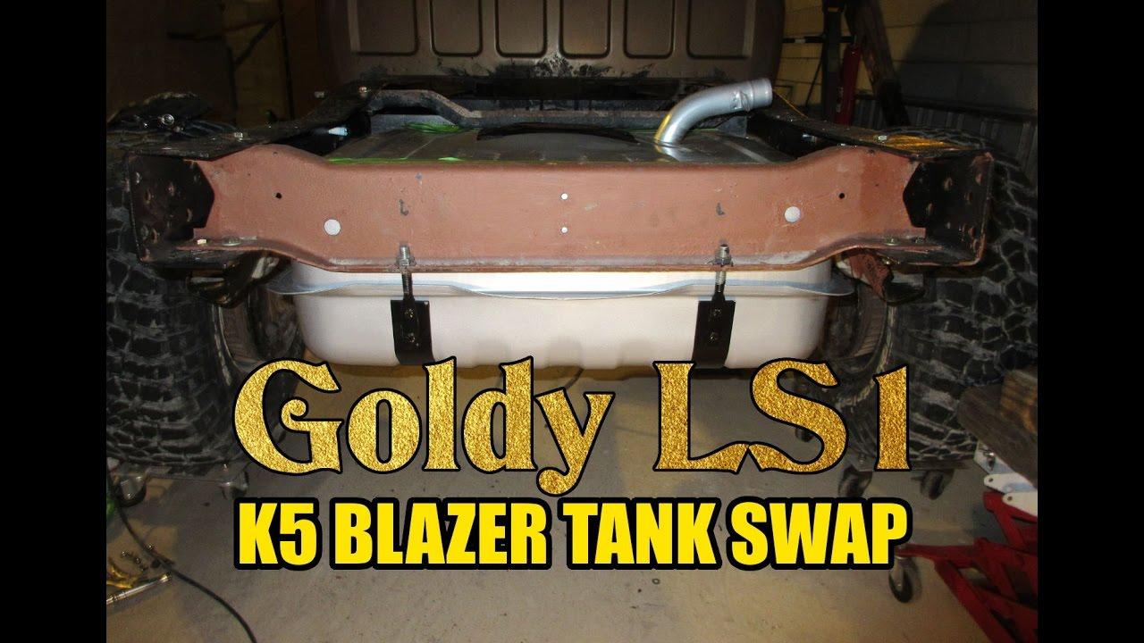 chevy  project  blazer tank install youtube