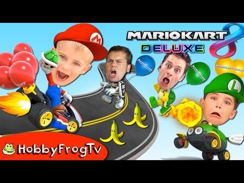 Mario Kart 8 Deluxe BALLOON BATTLE! Nintendo Switch Video Game Fun with HobbyFrogTV  