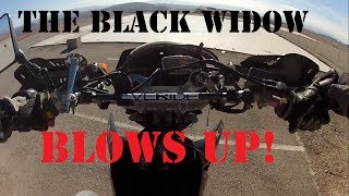 o#o My DRZ Black Widow Explodes, A Goat Head Blows Up, and an Airstrip [mv]{