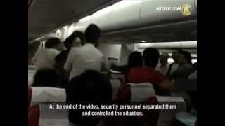 Fight Inside Plane Cabin
