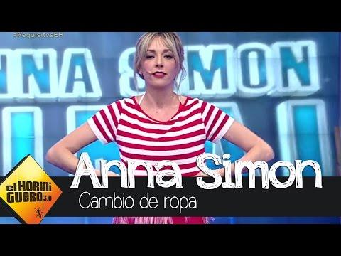Anna Simón se quita la ropa en † El Hormiguero †