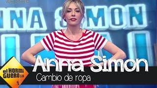 Anna Simón se quita la ropa en 'El Hormiguero'