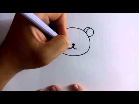 สอนวาดการ์ตูน ริลัคคุมะ Rilakkuma ง่ายๆ หัดวาดตามได้