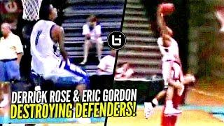 Derrick Rose & Eric Gordon DESTROYING Defenders In High School On The Same AAU Team! Just UNFAIR