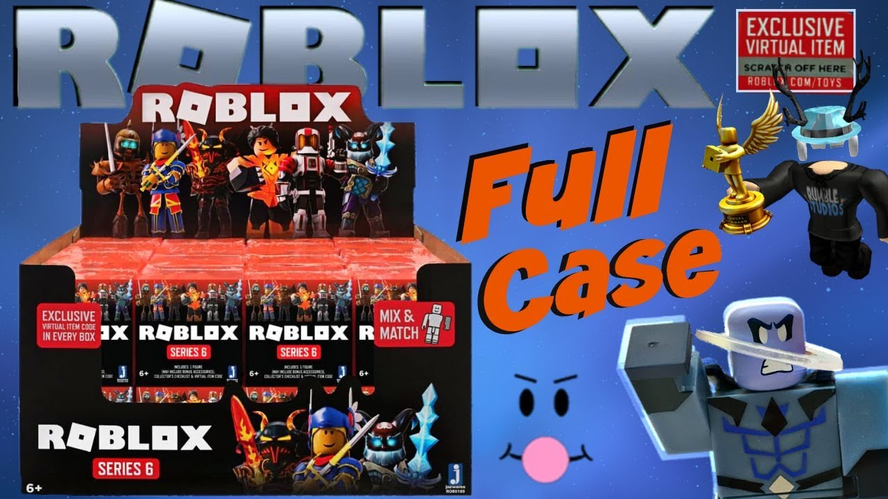 Roblox Season 6 Toys Roblox Series 6 Blind Boxes Full Case Code Items Unboxing Mystery Figures Orange Box Youtube