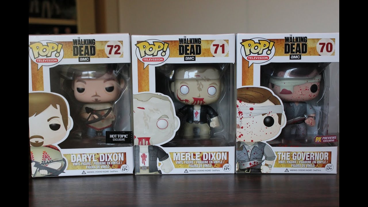Funko Pop The Walking Dead Series 3 Variants Review Youtube