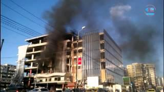 Moldova Mall a luat foc