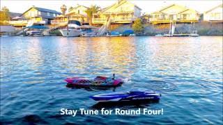 NEW Traxxas Catamaran M41 FPV vs Traxxas Spartan Boat Drag Race!