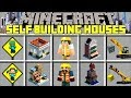 Minecraft SELF BUILDING HOUSE MOD l BECOME A BUILDER & MAKE INSTANT STRUCTURES! l Modded Mini-Game