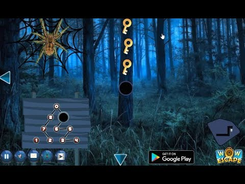 Black Widow Spider Forest Escape walkthrough Wowescape.