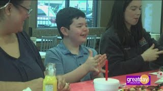 Chick-fil-A kid gives away party prize to first responders