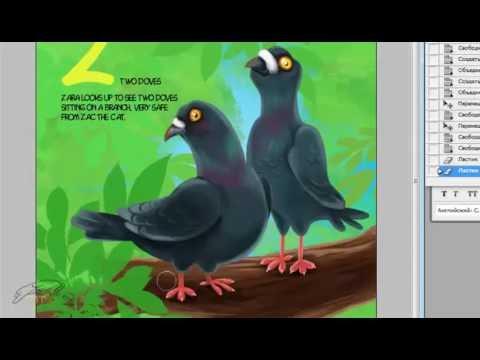 Детская иллюстрация Голуби от FBT Studio