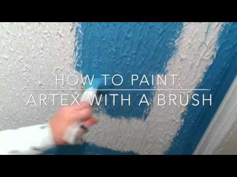 painting decorating how to paint artex with a brush youtube. Black Bedroom Furniture Sets. Home Design Ideas