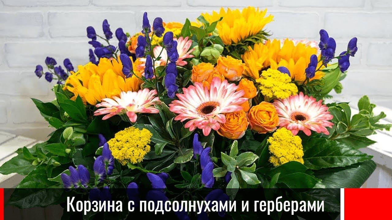 Корзина подсолнухов – купить с доставкой в Москве. Цена ниже! | 720x1280