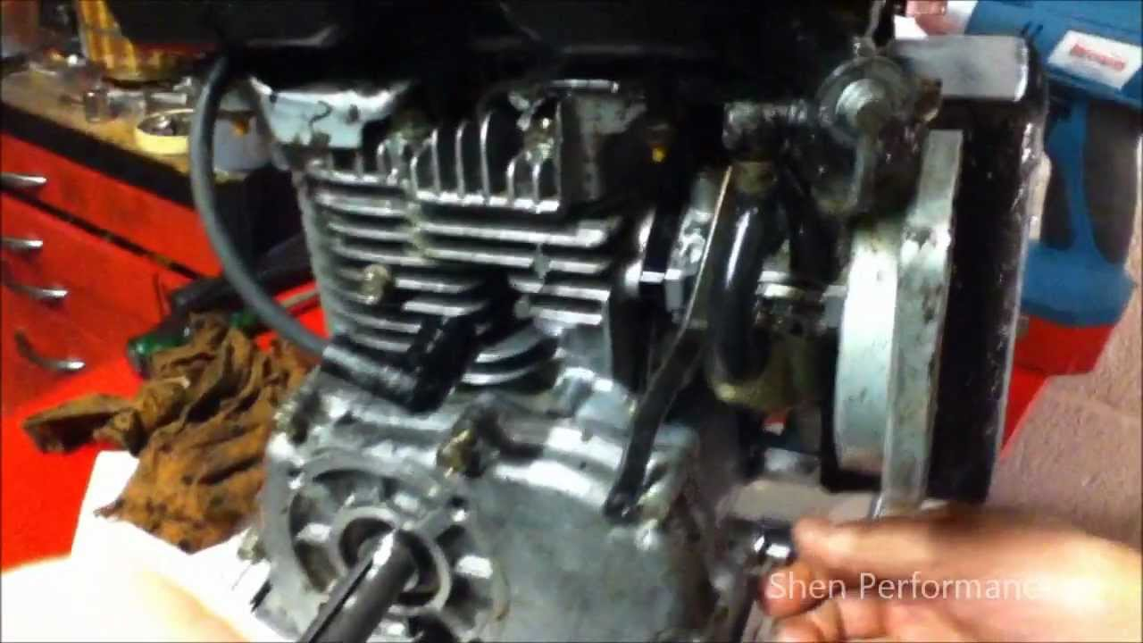 How to remove the governor from a 3 5hp go kart engine lawn mower