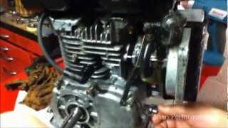 How to remove the governor from a 3.5hp go kart engine lawn mower