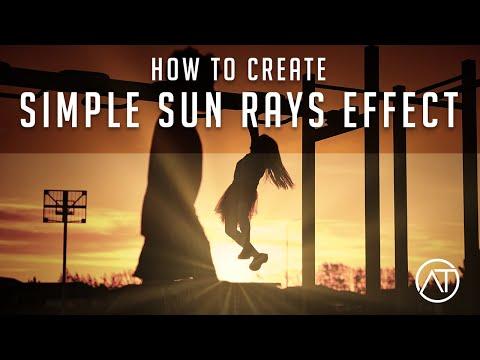 Editing your photos and adding stunning sun flares