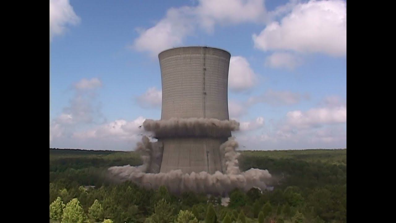 Cooling Tower Demolition : Savannah river doe site k cooling tower controlled