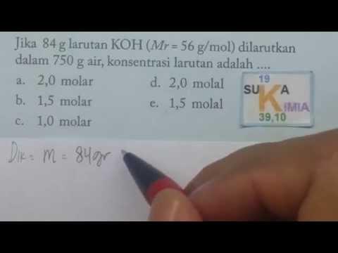 Cara mudah mencari molaritas atau konsentrasi larutan - soal - kimia SMA