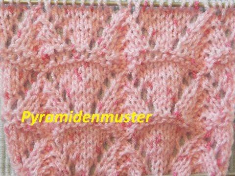 Ajourmuster 017*Pyramidenmuster Stricken*Muster für Pullover*Mütze*Tutorial Handarbeit Kreativ