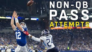 Every pass attempt by a non-quarterback in the 2018 NFL Season. Subscribe to NFL: http://j.mp/1L0bVBu Check out our other channels: NFL Vault ...