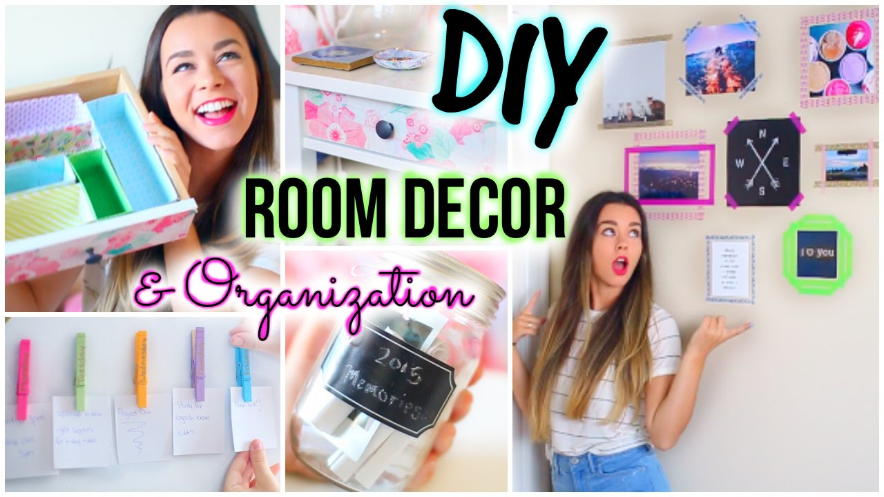 Diy room decor organization for 2015 youtube for Room decor organization