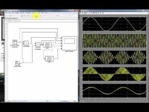 Matlab/Simulink Demo of Double Sideband Amplitude Modulation Suppressed  Carrier at Receiver