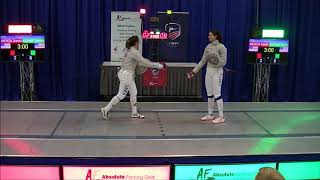 2017 December NAC Div I Women's Saber T16: Merza vs. Aksamit