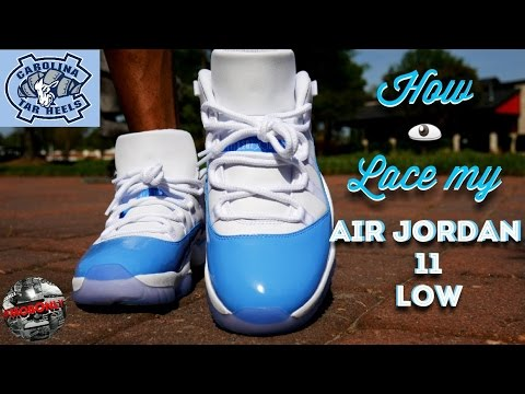 how to lace air jordan 11 low