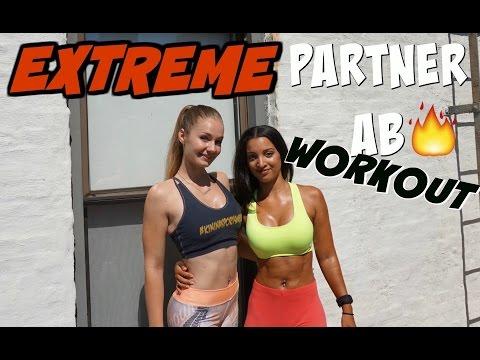 EXTREME Partner Ab Workout Ft. Bella Rahbek
