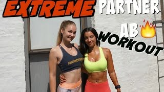 EXTREME Partner Ab Workout Ft. Bella Rahbek