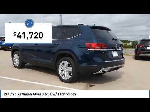 2019 Volkswagen Atlas 3.6 SE w/ Technology [LISTING TYPE] KC534278