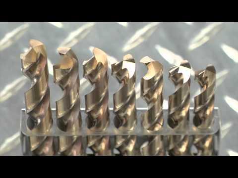 Klutch Cobalt High Speed Steel Drill Bit Set - 21-Pc.