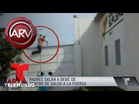 Padres sacan a la fuerza a una bebé de hospital Colombia | Al Rojo Vivo | Telemundo