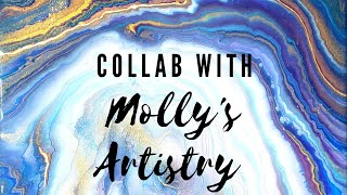 Acrylic & Resin Painting Collab with Molly