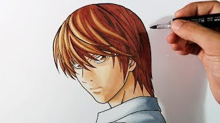Cómo Dibujar a Kira/Light Yagami paso por paso | How to Draw Kira | Death Note | ArteMaster