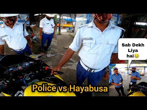 Police Reaction On My Superbike 😱    Petrol Pump Wale Ne Pahechan lia 😠