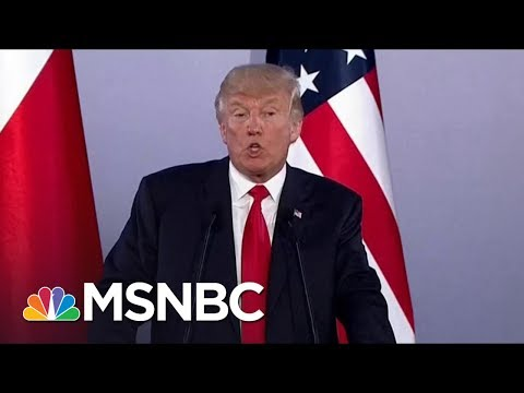 President Donald Trump: On Foreign Soil, Trump Rips Intel, Press And Obama | Morning Joe | MSNBC