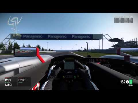 Project CARS Audi R8 LMP 900 at nurburgring GP