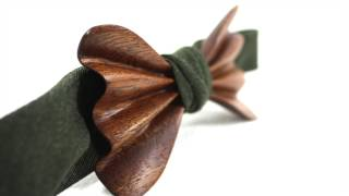 Wooden Bow Ties | The Dick Mangold | Brazilian Cherrywood