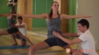 Йога для похудения - Вирабхадрасана 2