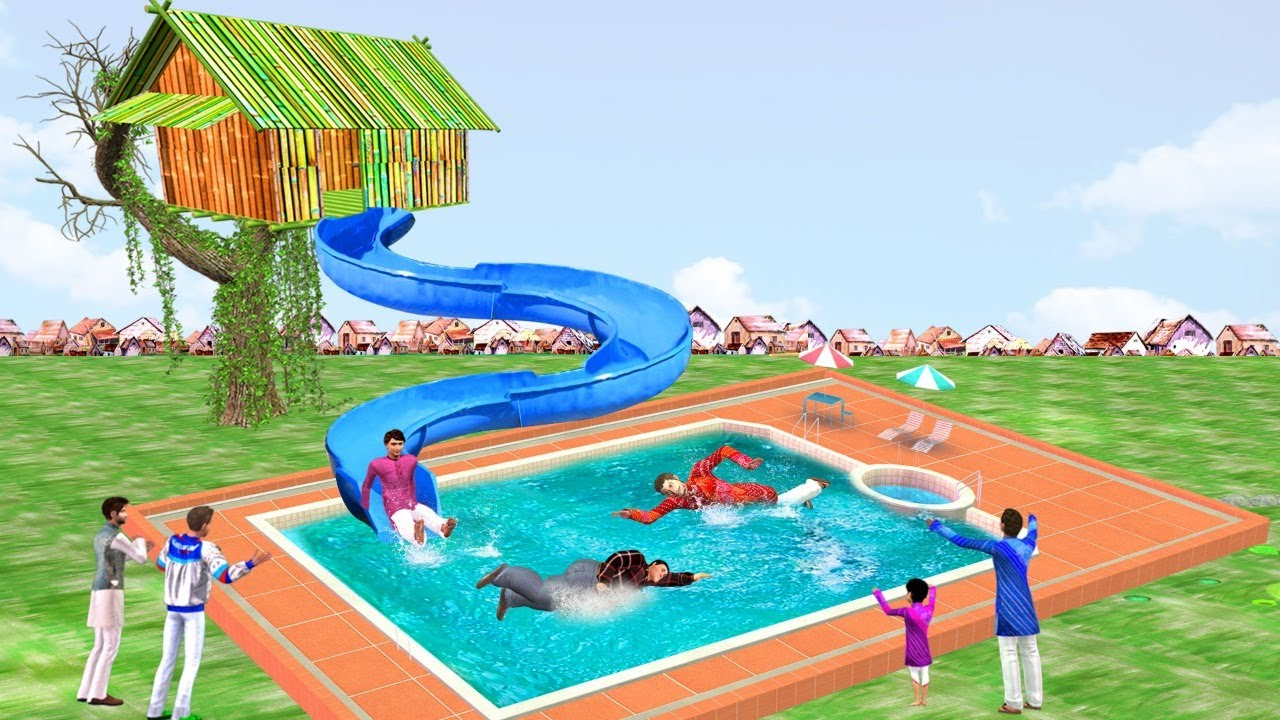 बांस का घर स्विमिंग पूल Bamboo House Swimming Pool Comedy Video हिंदी कहानिया Hindi Kahaniya Comedy