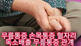 무릎통증 혈자리 독소배출 혈자리 충분한 영양섭취와 통증…