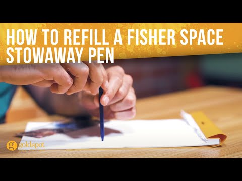 How To Refill A Fisher Space Stowaway Pen - Quick Tips #21