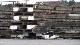 Tsunami Destroyed Port, Boats Sink Again, Crescent City, California