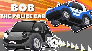 Bob the Police Car on a Mission to Catch thief cars to Rescue Baby Car | Cartoons for Kids
